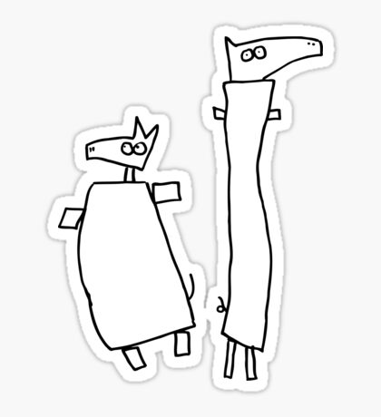 Are they heroes from a movie? (outline black) Sticker