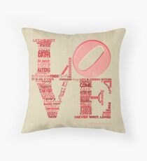 Love is Not Love, Shakespeare Sonnet 116 Throw Pillow