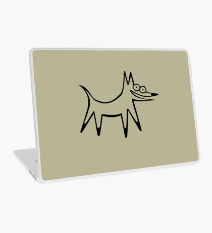 The space dog (outline black) Laptop Skin