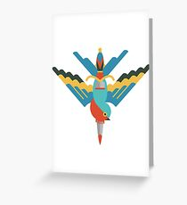 Flat design swallow and dagger Greeting Card