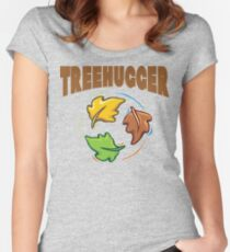 """Earth Day """"Treehugger"""" Women's Fitted Scoop T-Shirt"""