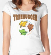 "Earth Day ""Treehugger"" Women's Fitted Scoop T-Shirt"