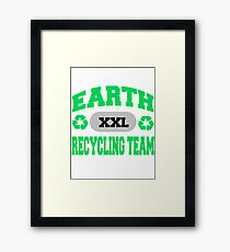 Earth Day Recycling Team Framed Print