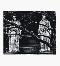 Gothic Angel Statue Photographic Print