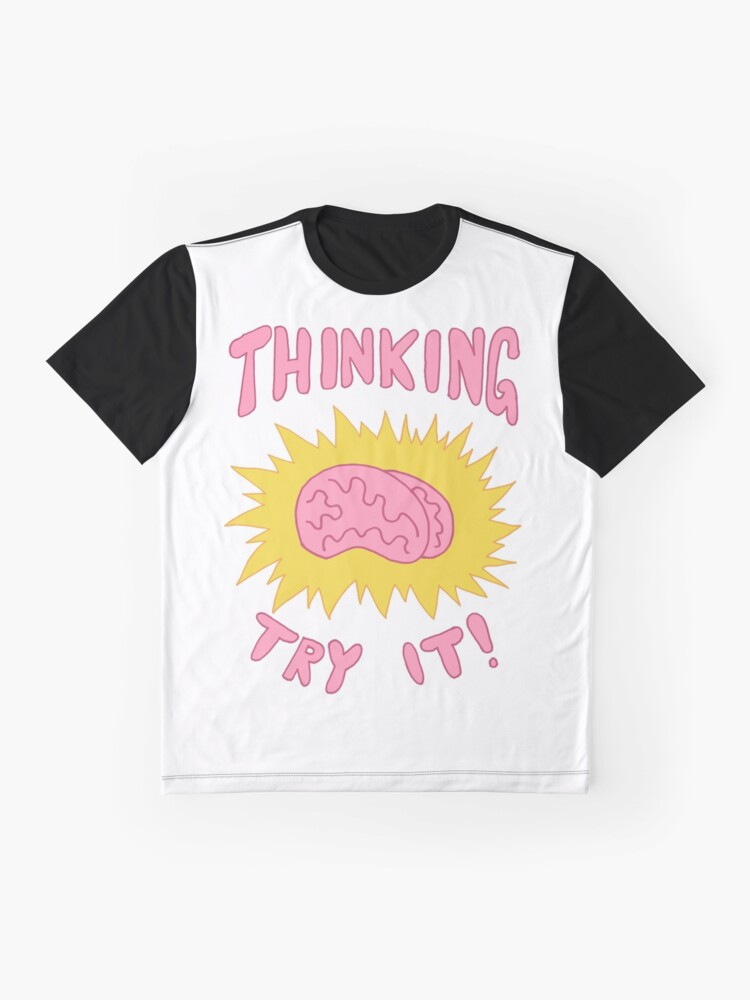 Alternate view of Thinking Try It! - Fabulous Brains, Man Graphic T-Shirt