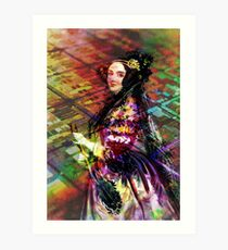 Ada Lovelace - Rainbow of Microchips Art Print
