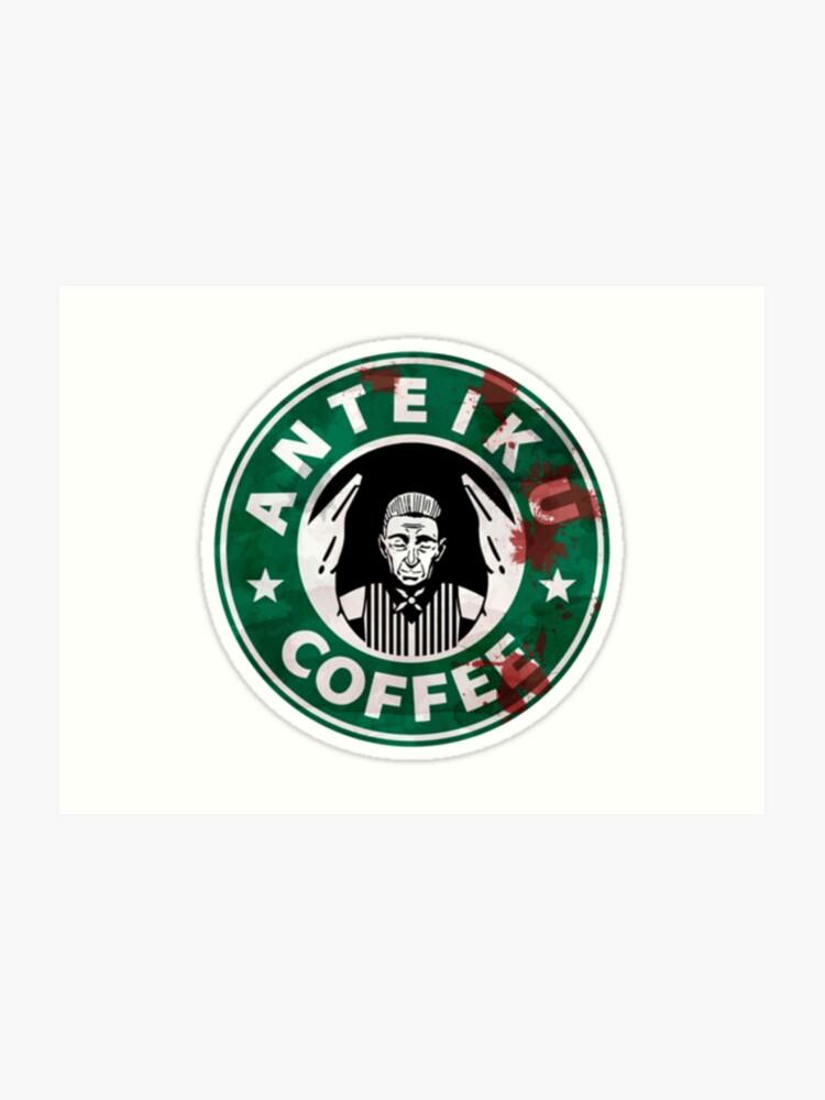 Anteiku Starbucks Yoshimura Logo Tokyo Ghoul Art Print