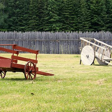 Two Wooden Wheelbarrows by TheLoner