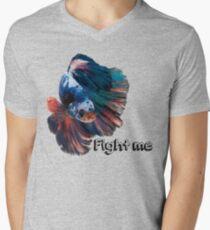 Betta Fighting Fish Mens V-Neck T-Shirt