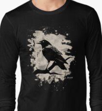 Camiseta de manga larga Crow bleached (creme white)
