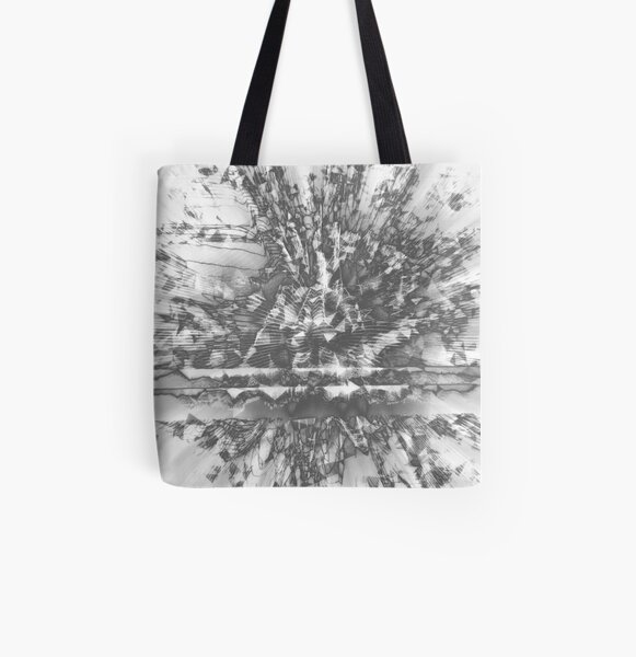 0126 Silver All Over Print Tote Bag