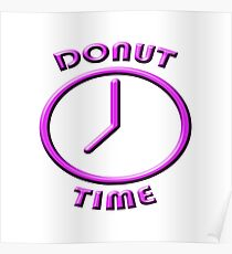 """""""Donut Time"""" typography Poster"""