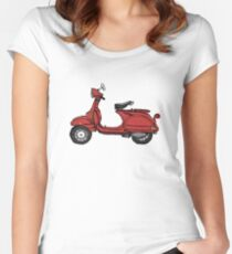 Marsala Scooter Women's Fitted Scoop T-Shirt