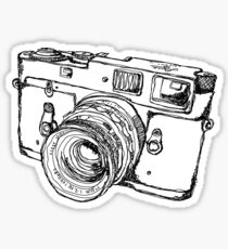 Rangefinder Style Camera Drawing Sticker