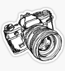 Vintage 35mm SLR Camera Design Sticker