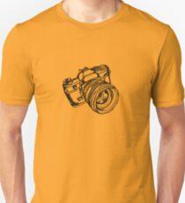 Vintage 35mm SLR Camera Design Unisex T-Shirt