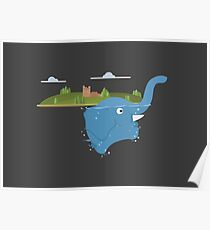 Lochness monster is an floating elephant Poster