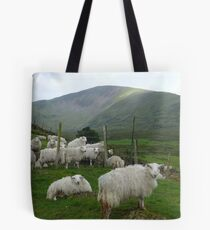 Welsh sheep in the foothills of Snowdon. Tote Bag