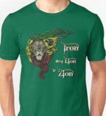 Reggae Rasta Iron, Lion, Zion 4 Unisex T-Shirt