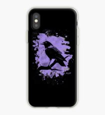 Crow bleached violet iPhone Case