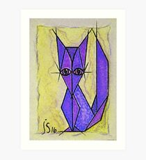 blue fox Art Print