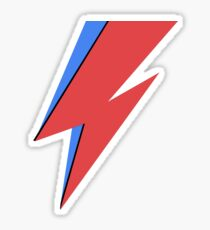 David Bowie Lighting Bolt Sticker