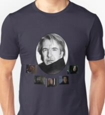 The Many Faces of Alan Rickman Unisex T-Shirt