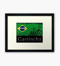 Brazilian soccer player Garrincha Framed Print