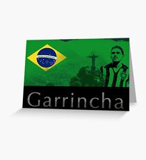 Brazilian soccer player Garrincha Greeting Card