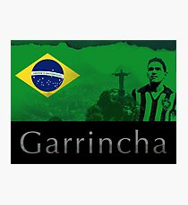 Brazilian soccer player Garrincha Photographic Print