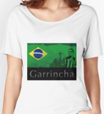 Brazilian soccer player Garrincha Women's Relaxed Fit T-Shirt
