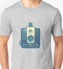 Classic Hawkeye Camera Design in Blue T-Shirt