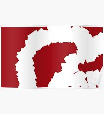 Smashed Ruby Abstract Painting Poster