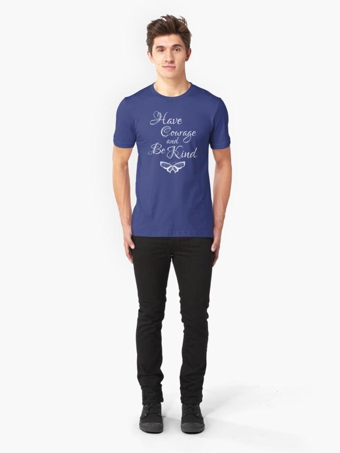 Alternative Ansicht von Habe Mut und sei nett 4 Slim Fit T-Shirt