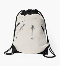Sumi-e Fish Drawstring Bag