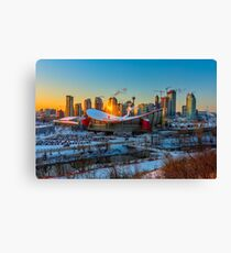 Calgary in the Cold Canvas Print