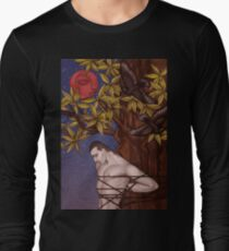 Tied to a tree under a blood moon Long Sleeve T-Shirt