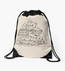 The Four Basic Food Groups Drawstring Bag