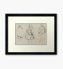 Eugène Delacroix THREE FIGURES Framed Print