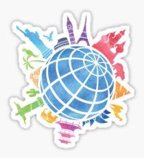 Sehenswürdigkeiten auf der ganzen Welt Sticker