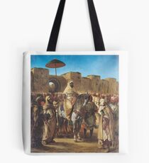 EUGENE DELACROIX,  MULEY ABD-AR-RHAMAN  THE SULTAN OF MOROCCO Tote Bag