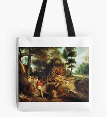 EUGENE DELACROIX,  THE WILD BOAR HUNT, AFTER A PAINTING BY RUBENS Tote Bag