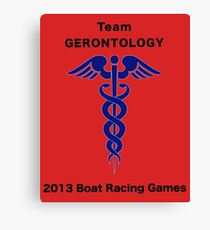 Team Gerontology - Boat Racing Games Canvas Print
