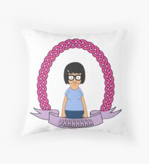 UHHHHHH // Tina Belcher Throw Pillow