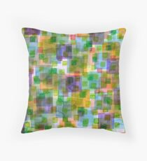 Large Squares covered by Small Green Squares  Throw Pillow
