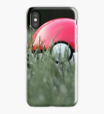 Pokeball in Grass iPhone Case