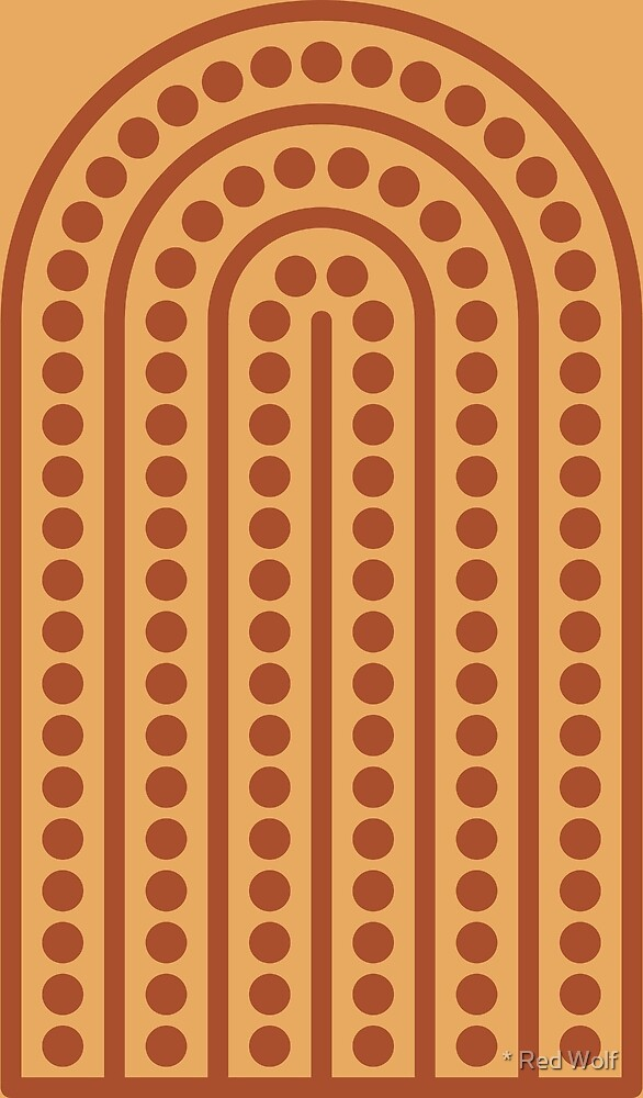 Geometric Pattern: Arch Dot: Toffee by * Red Wolf