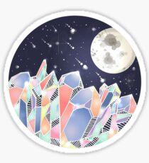 Crystal Moon Mountain  Sticker