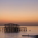 Brighton West Pier at Sunset by Sue Robinson