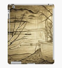 A digital painting of The Danube and A Boat iPad Case/Skin